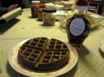 GF Chocolate waffle and maple syrup (from the Christmas penguin)