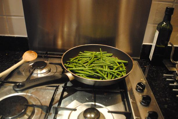 Sauteed green beans.. or haricot verts.. can't remember which we actually bought..
