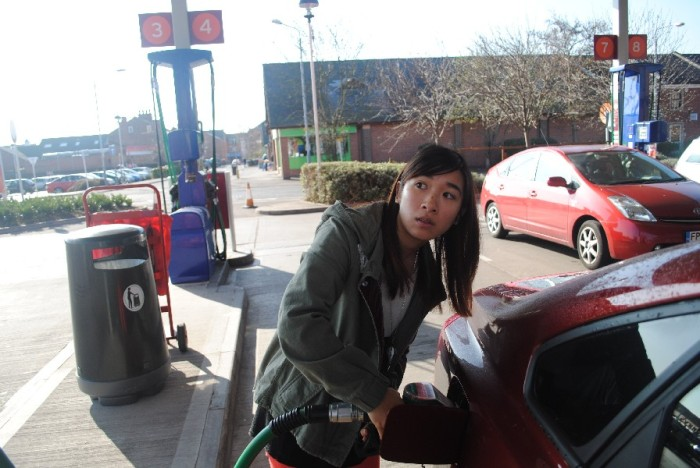 "Getting ""petrol""... no wonder I look confused.."