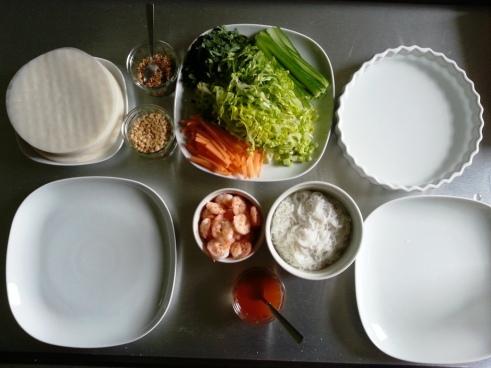 Spring rolls for dinner! (shrimp only)
