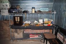 Replica WWII bomb shelter