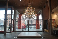 Colorful chandelier in the entrance lobby