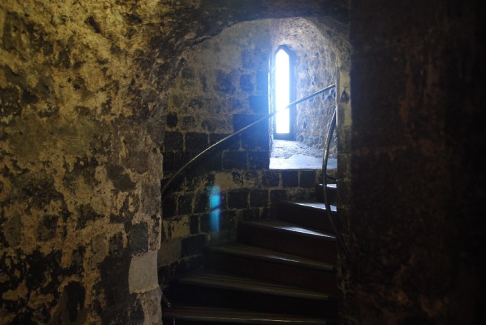 Many many steps at the Tower