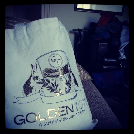 Golden Tote - Arrived just in time for the birthday!