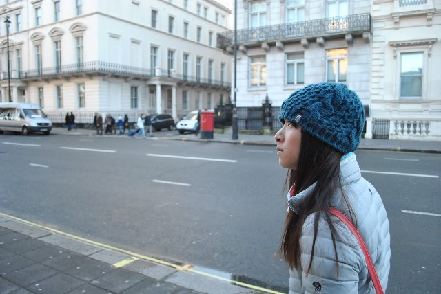 Went from shorts and t-shirts in Vietnam to all bundled up in London