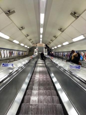Escalator down...