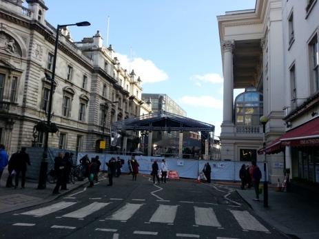 Street blocked for the BAFTAs