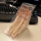 Wednesday Lunch - tuna sandwich (I added spinach)