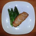 Thursday Dinner - Bird's Eye Simply Breaded Cod and asparagus
