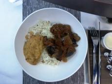 VA Upper Class Flight - vegetarian curry