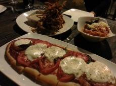 Haven Gastropub - margherita flatbread, fried pig ears, spaghetti squash