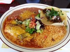 Tacos Tamazula - pork tamale, carne asada taco