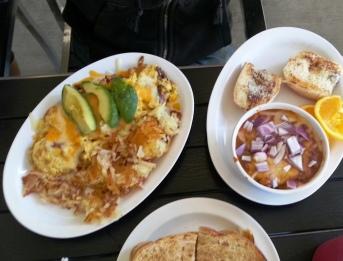 Bread Crumb Ohana Cafe - California omelet, chili