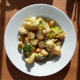 Friday DINNER - cauliflower, broccolo and potato cheesy bake