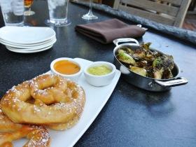 Stone Brewery World Bistro - pretzels, brussel sprouts