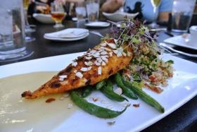 Stone Brewery World Bistro - fish with quinoa