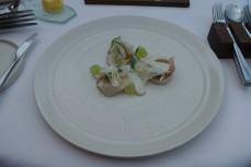 Scallop, fennel, vanilla mayo, bellota ham - 2012 Pinot Gris, Gocker, Alsace