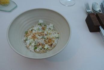 "Asparagus, lemon, parmesan, espelette - 2011 Chardonnay ""Vintner's Reserve"", Kendall-Jackson, California, USA"