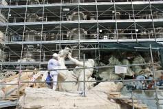 Trevi Fountain - under refurbishment, so closed